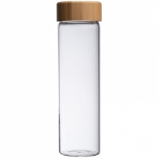 Glass bottle with bamboo lid Santa Cruz